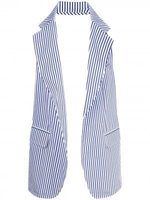 Жилет в полоску Comme Des Garçons Shirt. Цвет: синий