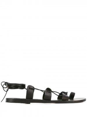 Сандалии Alcyone со шнуровкой Ancient Greek Sandals. Цвет: черный