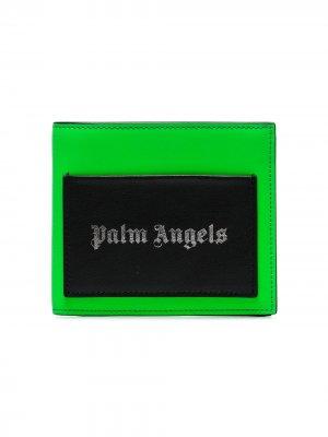 Бумажник с нашивкой-логотипом Palm Angels. Цвет: зеленый