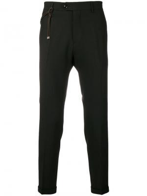 Классические укороченные брюки Berwich. Цвет: черный