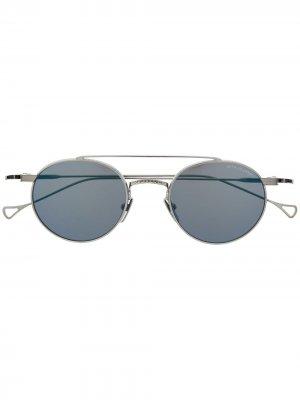 Солнцезащитные очки в круглой оправе Dita Eyewear. Цвет: серебристый