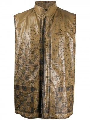 Жилет 1990-х годов с принтом Fendi Pre-Owned. Цвет: коричневый