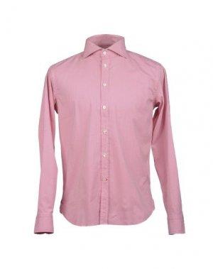 Рубашка с длинными рукавами BRANCACCIO. Цвет: кирпично-красный