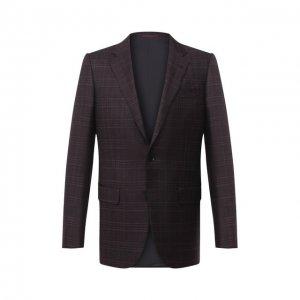 Шерстяной пиджак Ermenegildo Zegna. Цвет: фиолетовый