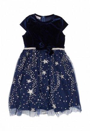 Платье Born. Цвет: синий