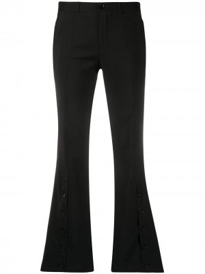 Расклешенные брюки с пуговицами Each X Other. Цвет: черный