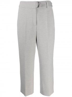Укороченные брюки со складками Akris Punto. Цвет: серый