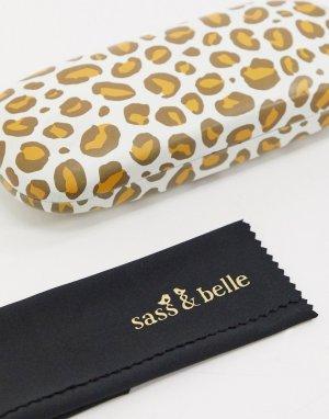 Футляр для очков с леопардовым принтом -Мульти Sass & Belle