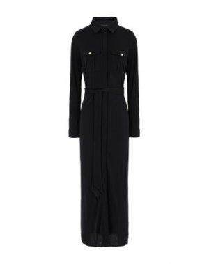 Длинное платье DONNA KARAN. Цвет: черный