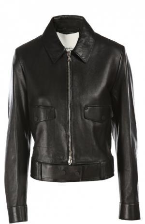 Куртка кожаная 3.1 Phillip Lim. Цвет: черный