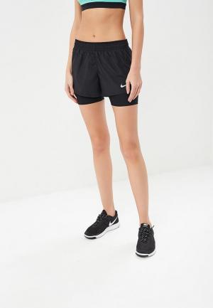 Шорты спортивные Nike WOMENS 10K 2-IN-1 RUNNING SHORTS. Цвет: черный