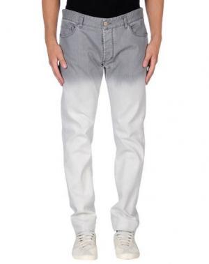 Джинсовые брюки GILMAR. Цвет: светло-серый