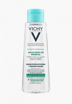 Мицеллярная вода Vichy для жирной и комбинированной кожи. Цвет: прозрачный