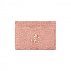 Кожаный футляр для кредитных карт Jimmy Choo. Цвет: розовый