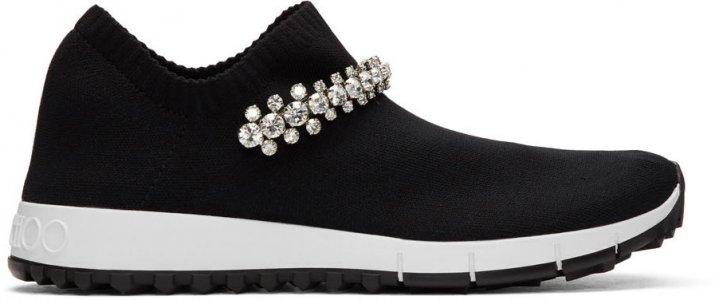 Black Crystal Verona Sneakers Jimmy Choo. Цвет: black/crystal