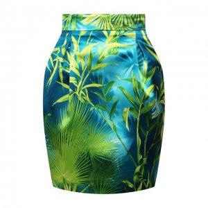 Мини-юбка Versace. Цвет: зелёный