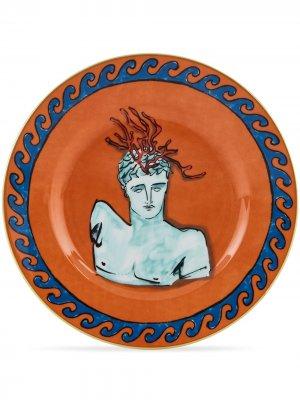 Il VIaggo di Nettuno dessert plates (set of 2) Richard Ginori. Цвет: оранжевый