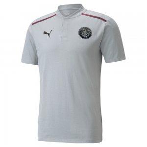 Поло Man City Casuals Mens Football Polo Shirt PUMA. Цвет: серый