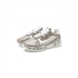 Комбинированные кроссовки AWNYC Alexander Wang. Цвет: серый
