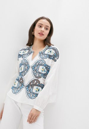 Блуза Silvian Heach. Цвет: белый