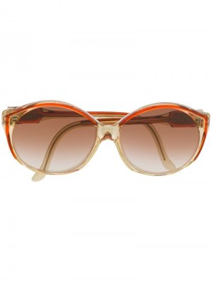 Солнцезащитные очки 1970-х годов в круглой оправе Céline Pre-Owned. Цвет: нейтральные цвета