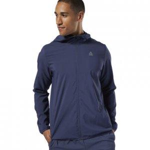 Спортивная куртка Training Essentials Woven Reebok. Цвет: heritage navy