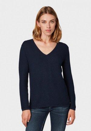 Пуловер Tom Tailor. Цвет: синий
