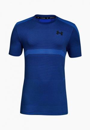 Футболка спортивная Under Armour X level Seamless T. Цвет: синий