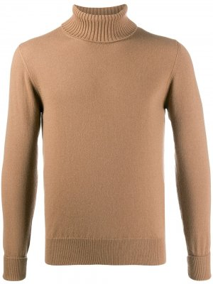 Кашемировый свитер с высоким воротником Ballantyne. Цвет: коричневый