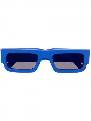 Солнцезащитные очки с логотипом Marcelo Burlon County of Milan. Цвет: синий