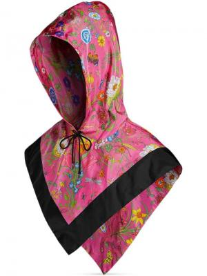 Nylon hood with Flora print Gucci. Цвет: розовый