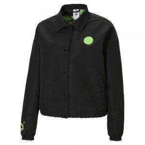 Куртка x SANTA CRUZ Womens Coach Jacket PUMA. Цвет: черный