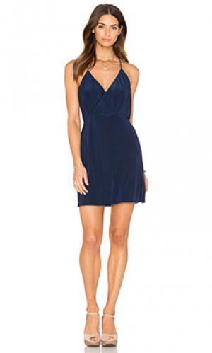 Мини платье liza MISA Los Angeles. Цвет: синий