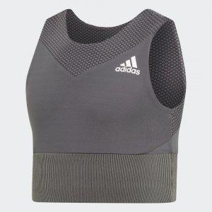 Бра-топ Performance adidas. Цвет: черный