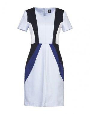 Короткое платье 1-ONE. Цвет: сиреневый