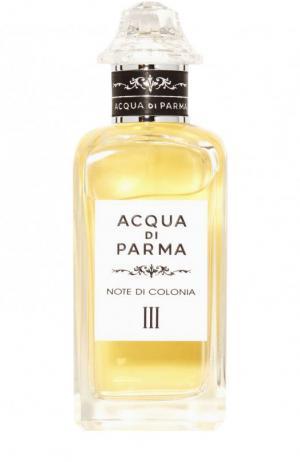 Одеколон Note di Colonia III Acqua Parma. Цвет: бесцветный