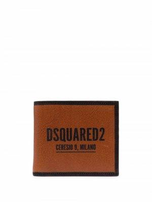 Бумажник с логотипом Dsquared2. Цвет: коричневый
