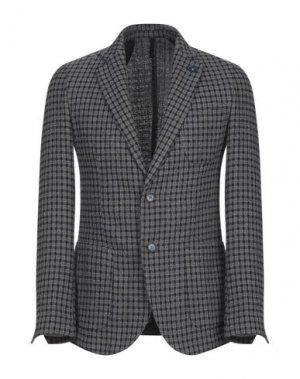 Пиджак OUTFIT. Цвет: серый