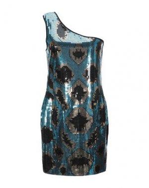 Короткое платье CARLO PIGNATELLI. Цвет: синий