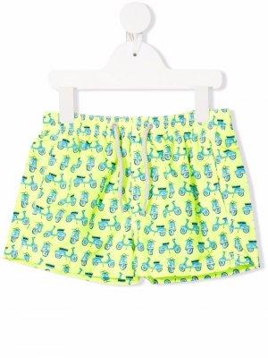 Плавки-шорты с принтом MC2 Saint Barth Kids. Цвет: желтый