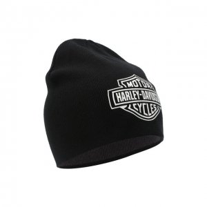 Двусторонняя шапка Harley-Davidson. Цвет: чёрно-белый