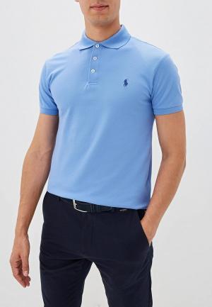 Поло Polo Ralph Lauren SLIM FIT. Цвет: голубой