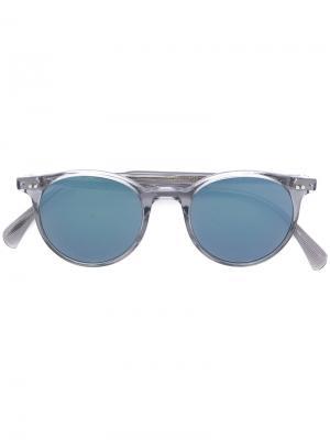 Солнцезащитные очки Delray в круглой оправе Oliver Peoples. Цвет: синий