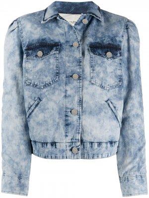 Джинсовая куртка из вареного денима Isabel Marant Étoile. Цвет: синий