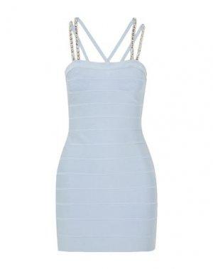 Короткое платье HERVÉ LÉGER. Цвет: небесно-голубой