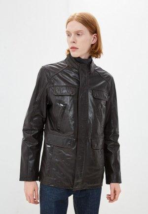 Куртка кожаная Jorg Weber IP015S8. Цвет: коричневый