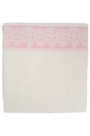 Полотенце махровое, 70х140 см BRIELLE. Цвет: кремовый, розовый