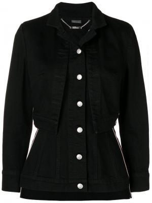 Fitted layered jacket Alexander McQueen. Цвет: черный