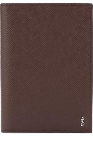 Кожаная обложка для паспорта Evoluzione Serapian. Цвет: бордовый