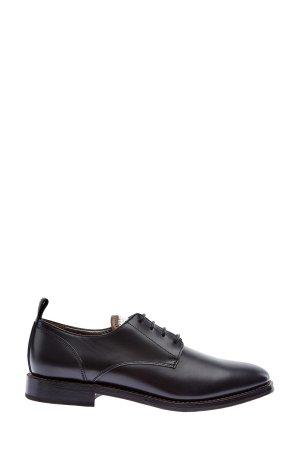 Ботинки-дерби с металлизированной отделкой BRUNELLO CUCINELLI. Цвет: черный